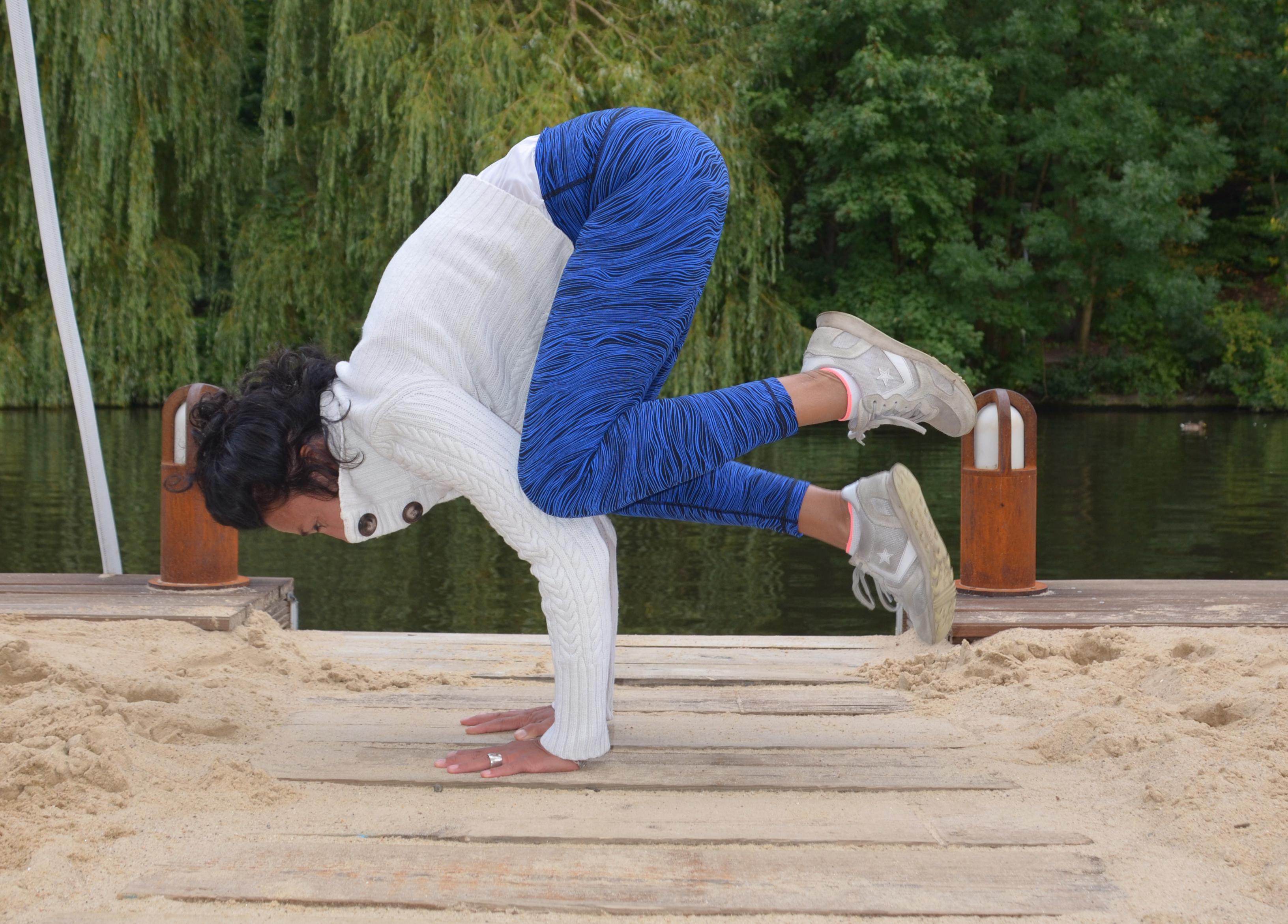 Yoga am Beach Club in Hamburg