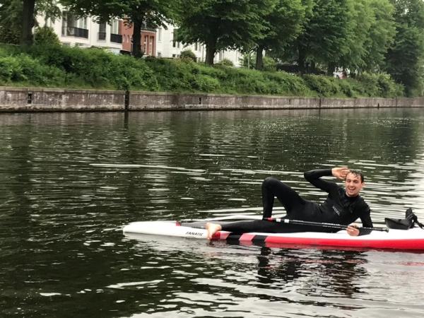 SUP Trainer am Anleger Hamburg